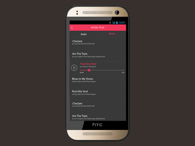 Music App Design music app playlist song android
