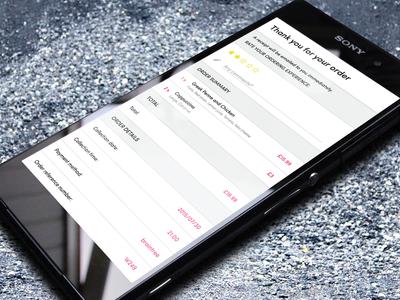 Mobile Ordering Details details summary rate drink mobile android app food menu order