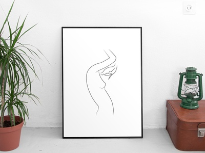 Silhouette Print dimensions a4 a3 silhouette illustration print