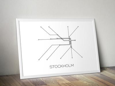 Stockholm Subway Print  tictail transport sweden illustration lines art digital print subway stockholm