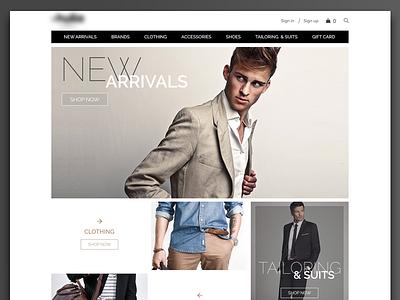 eCommerce UI Concept store cart shop creative ux ui website brand cloth fashion men