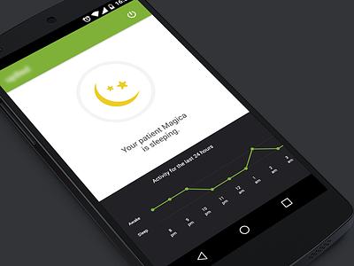 Patient status ios health ui android graph notification activity awake sleep