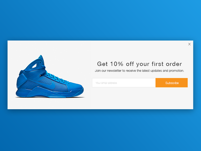 Email Subscribe signup popup e-commerce nike ecommerce newsletter subscribe