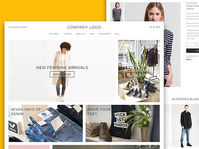 Fashion Boutique template responsive store cloths fashion landing ecommerce shopping cart e-commerce