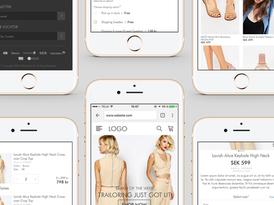 Responsive Ecommerce Fashion Cart product bag ecommerce responsive ios mobile ux ui cart e-commerce