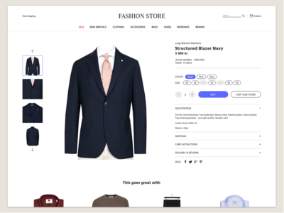 Fashion Store clothing variants online store fashion ecommerce product cart e-commerce
