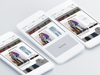 Redesign for 'Shop the style' feature for H&M responsive ux design ui design ux ui ecommerce e-commerce