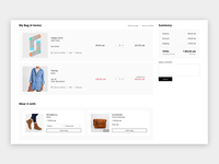 One page checkout shopping checkout ui ux fashion responsive cart ecommerce