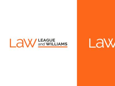 League And Williams Brandmark law firm logotype brandmark logo