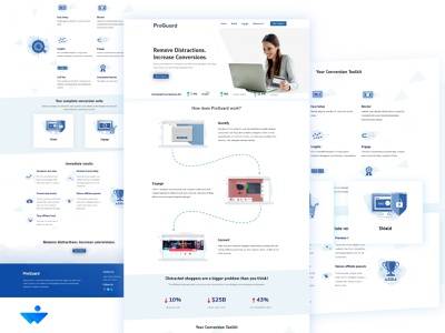 Website UI for an Online Security Startup design vector typography logo animation web ux icon logo branding ui