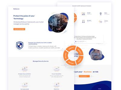 BizSecure Website UI typography web ux vector illustrator illustration logo ui branding design