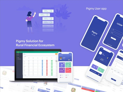 Pigmy Application Suite for Rural Finance Ecosystem website typography illustrator app web app design mobile ui web ux ui branding design