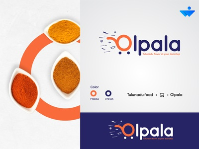 Olpala  logo concept flat website web logos web logo graphic logo icon typography logo typogaphy logo vector illustration branding design