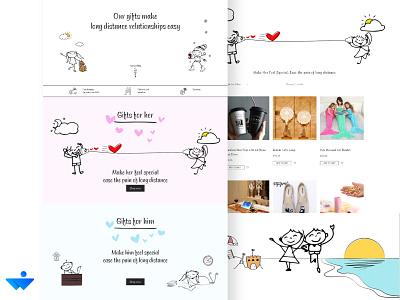 Giftnear Website UI Design and Development minimal flat website vector ux illustration web ui branding design