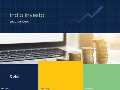 India Investa a finance start up Logo typography logo app ux vector illustration typography icon web branding design