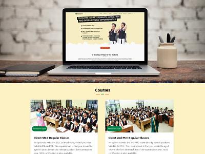 Pragathi Study center type website schools typography logo typography vector icon ux web ui design