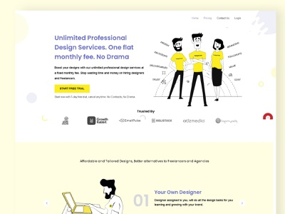 Website UI Design vector art minimal website ux ui animation web illustration design