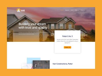 website design for a construction company type minimal flat illustrator website illustration ux web ui design