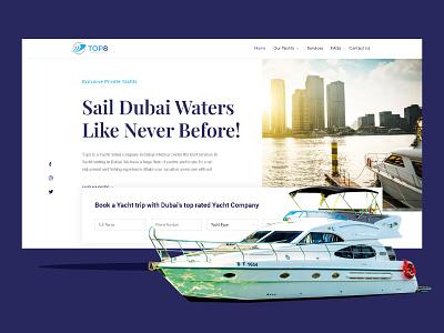 Website design for a Yacht rental company in Dubai flat app illustrator logo icon ui ux branding web design