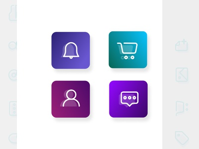 App Icons Set vector logo illustration icon branding design ux web