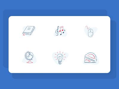 Education Icon Set graphic design design vector logo icon illustration web branding