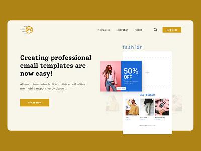 Email Template generating platform Hero Design icon vector ux illustration typography web ui branding design