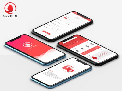 Blood For All ux app logo icon ui design