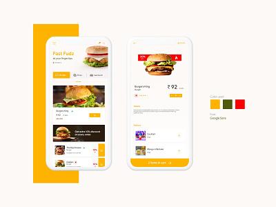 Food Delivery app concept app ui cards online store delivery app food app illustration ux ui design
