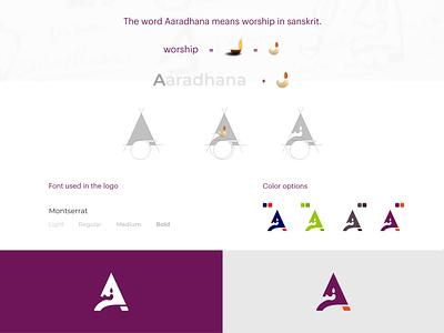 Aaradhana logo concept logos logotype logodesign food logo logo concept logo branding icon typography logo logo design