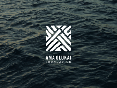 Ama OluKai Foundation Logo icon vector logo design hawaii logo branding non-profit typography design