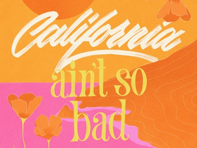 California california procreate illustration brushlettering calligraphy handlettering lettering typography design
