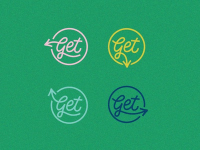 Just Get This Badge vector badge logo branding lettering typography design