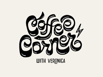 Coffee Corner Lettering procreate coffee logo logo design branding illustration handlettering lettering typography design