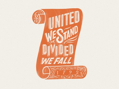 United We Stand usa kentucky badge illustration logo logo design procreate handlettering lettering typography design