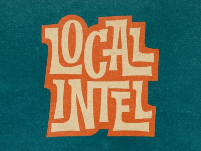 Local Intel Lettering badge badge design funky local seo locals only hawaii procreateapp logo design drawing logo illustration branding procreate handlettering lettering typography design