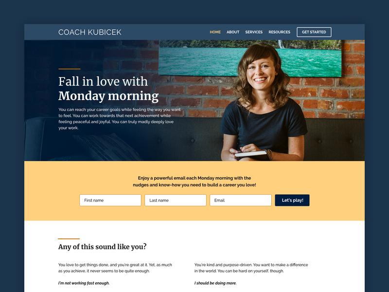 Life coach website life coach website design website web design