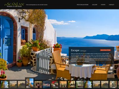 Windows to the World photography photographer portfolio website interface dark big photo imagery