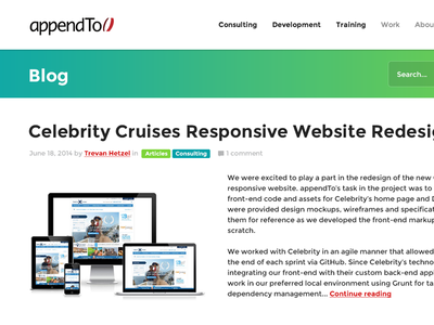 appendTo.com redesign redesign website agency