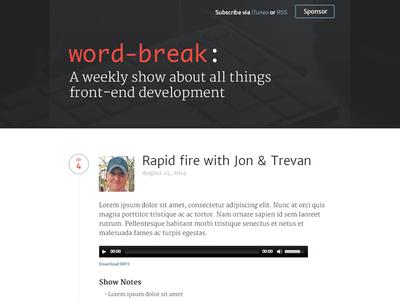 Word-Break Show podcast site wordpress