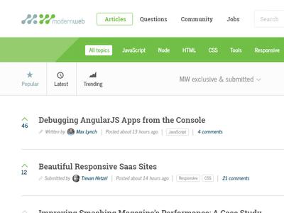 ModernWeb.com overhaul design blog web design ui