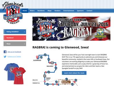 Glenwood RAGBRAI website glenwood iowa ragbrai cycling website