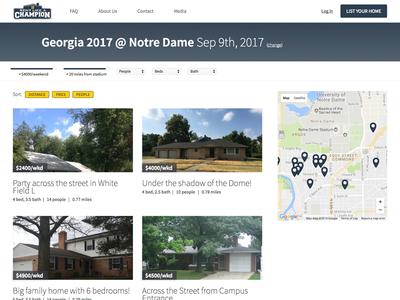 Property listing filter web application website properties