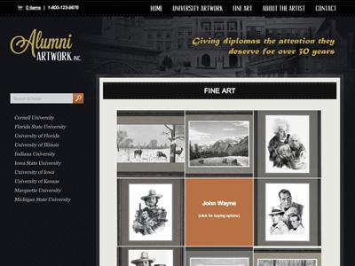 AlumniArtwork.com Redesign redesign website wordpress
