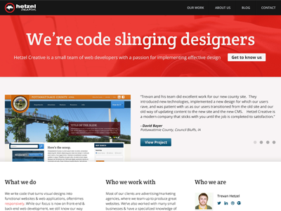 Redesign of agency site agency website redesign web design company