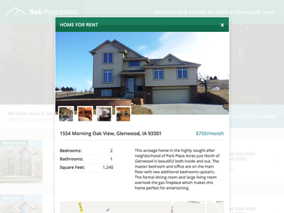 Home for rent overlay real estate property homes overlay popup