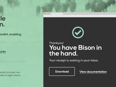 Bison order confirmation