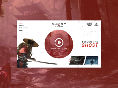 Ghost of Tsushima Website Concept