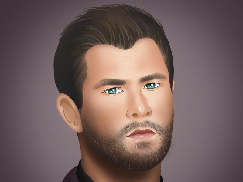Portrait illustration design illustration