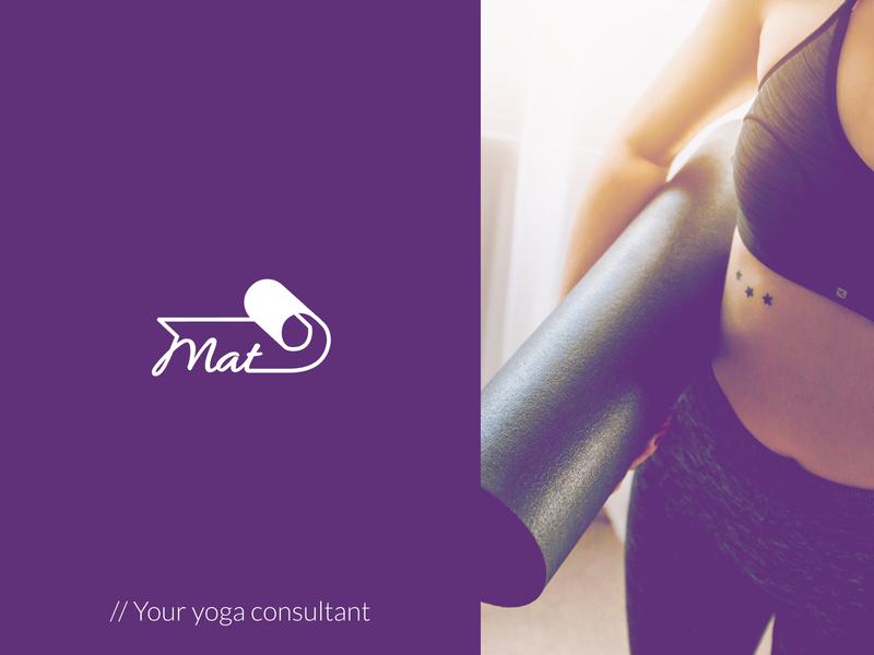 Logo design for Mat Yoga App yoga mat app design product logodesign design yoga logo yoga app yoga app logo logo design logo