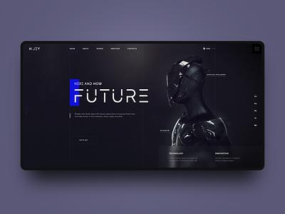 Future. Technology and Innovation web modern black future ui webdesign